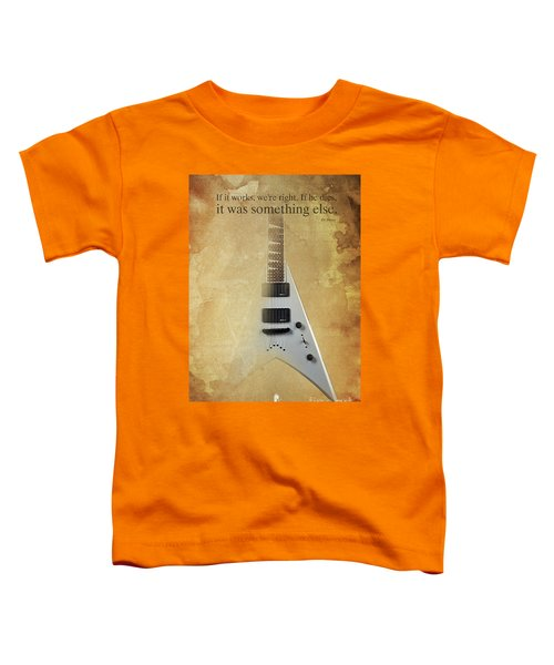Dr House Inspirational Quote And Electric Guitar Brown Vintage Poster For Musicians And Trekkers Toddler T-Shirt by Pablo Franchi