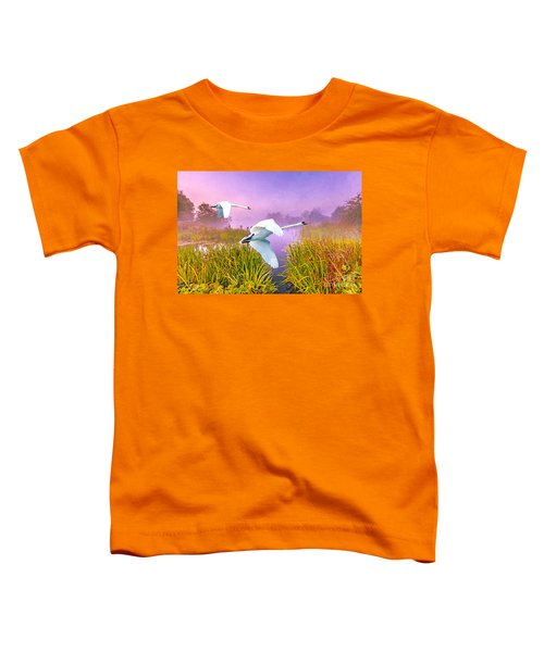 Mute Swans Over Marshes Toddler T-Shirt