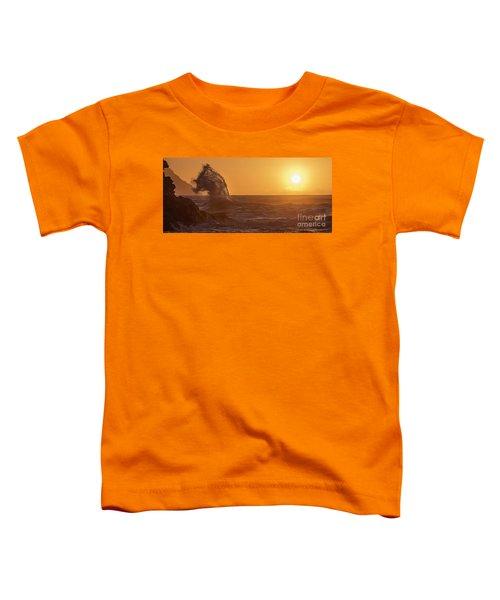 Napali Coast Kauai Hawaii Wave Explosion Iv Toddler T-Shirt