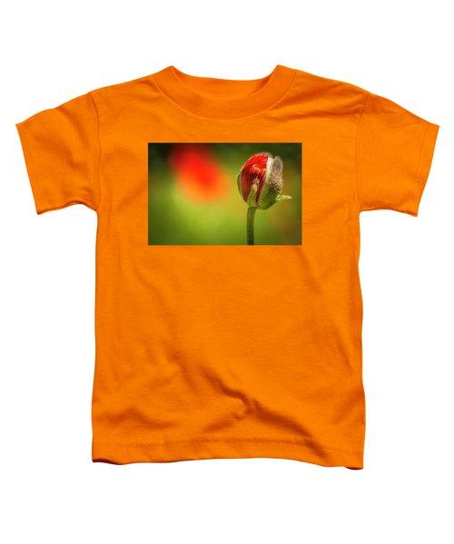 New Orange Poppy Bloom Toddler T-Shirt