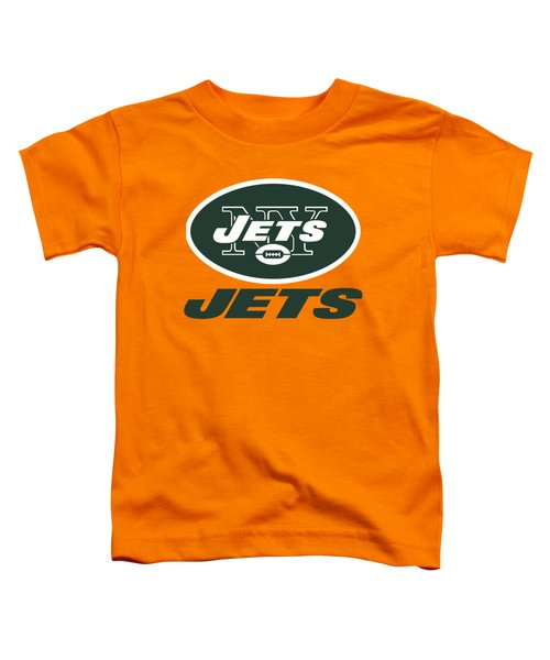 New York Jets On An Abraded Steel Texture Toddler T-Shirt