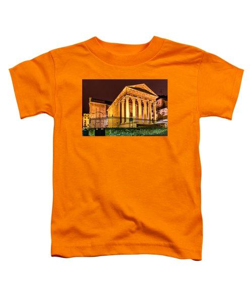 Night At The Roman Temple Toddler T-Shirt by Randy Scherkenbach
