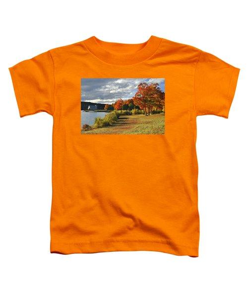 Old Stone Church Autumn Glow Toddler T-Shirt