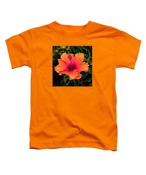 Orange And Pink Hibiscus 2 Toddler T-Shirt