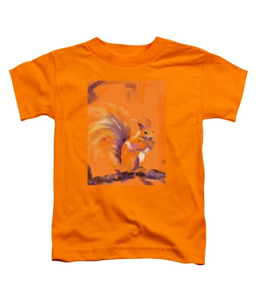 Orange Forest Squirrel Toddler T-Shirt