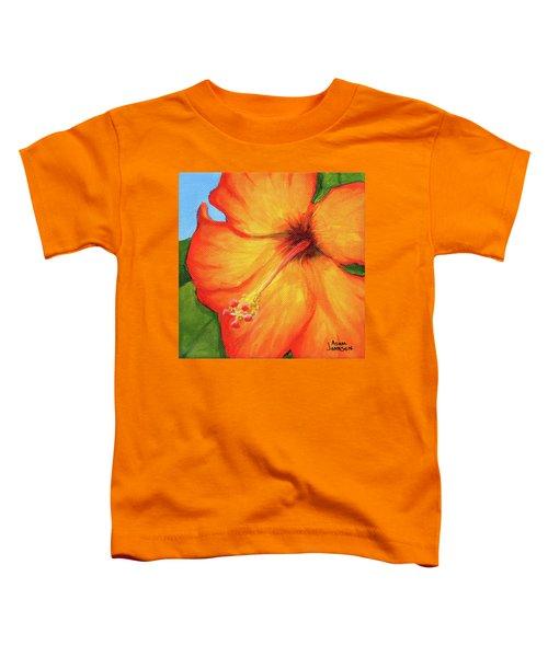 Orange Hibiscus Flower Toddler T-Shirt