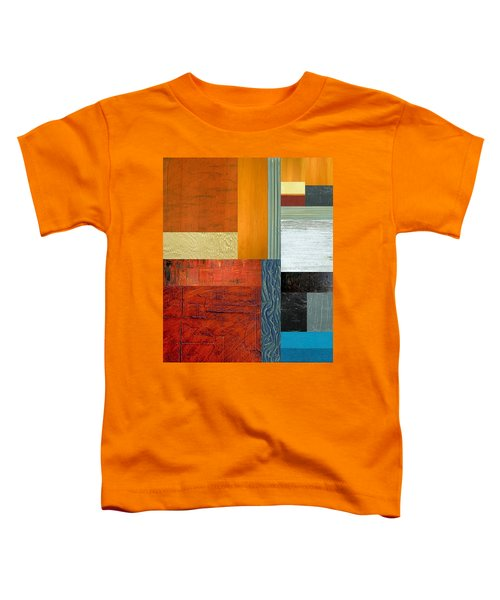Toddler T-Shirt featuring the painting Orange Study With Compliments 1.0 by Michelle Calkins