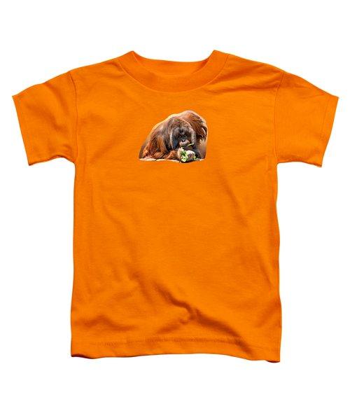 Orangutan Toddler T-Shirt by Maria Coulson