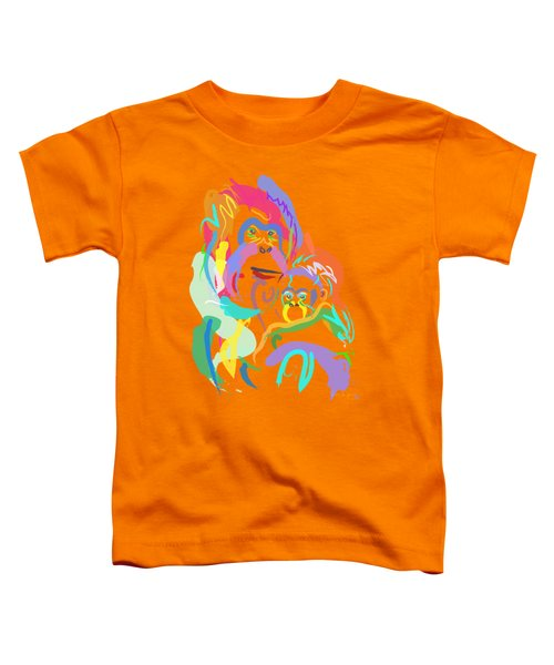 Orangutan Mom And Baby Toddler T-Shirt