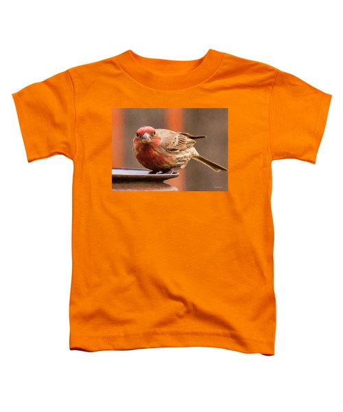 Painted Male Finch Toddler T-Shirt