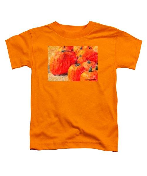 Painted Pumpkins Toddler T-Shirt