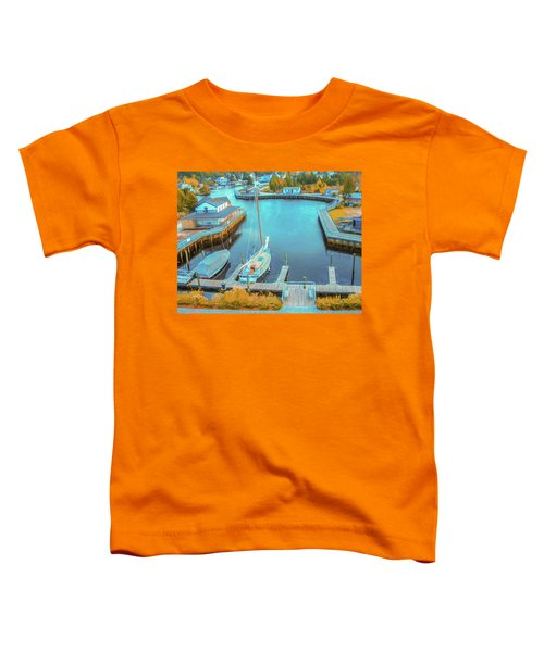 Painterly Tuckerton Seaport Toddler T-Shirt