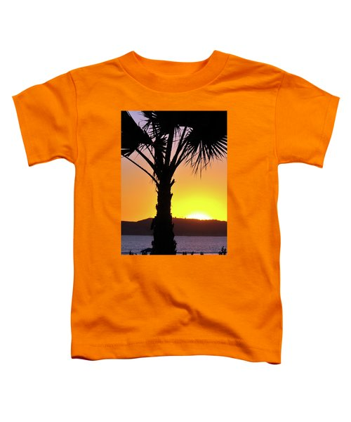 Palm At Sunset Toddler T-Shirt