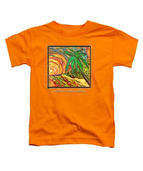 Palm Sunrise Sunset Toddler T-Shirt