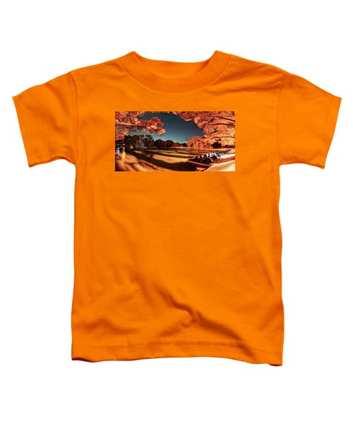 Panorama Of A Starry Night Over The Frio River - Garners State Park - Texas Hill Country Toddler T-Shirt