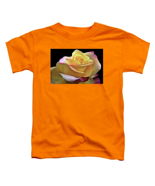 Pastel Yellow Rose Canvas Proofed Toddler T-Shirt