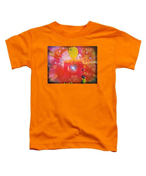 Peace And Love Meditation Toddler T-Shirt