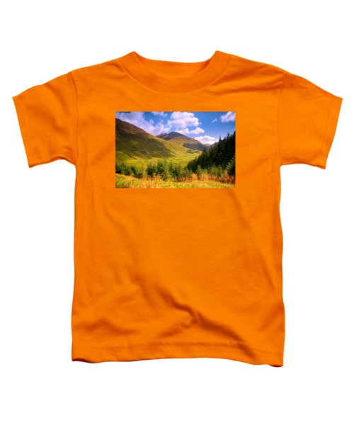 Peaceful Sunny Day In Mountains. Rest And Be Thankful. Scotland Toddler T-Shirt