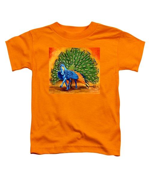 Peacock Pegasus Toddler T-Shirt by Melissa A Benson