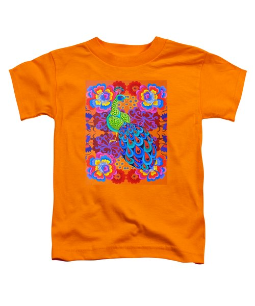 Peacock With Flowers Toddler T-Shirt