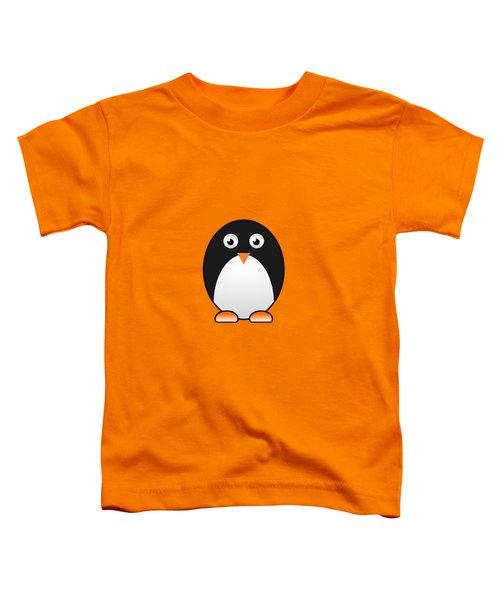 Penguin - Birds - Art For Kids Toddler T-Shirt by Anastasiya Malakhova