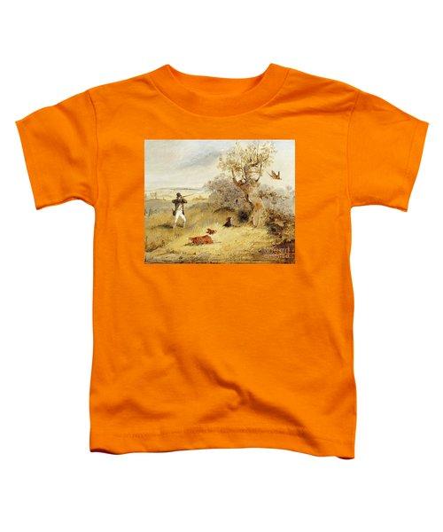 Pheasant Shooting Toddler T-Shirt by Henry Thomas Alken