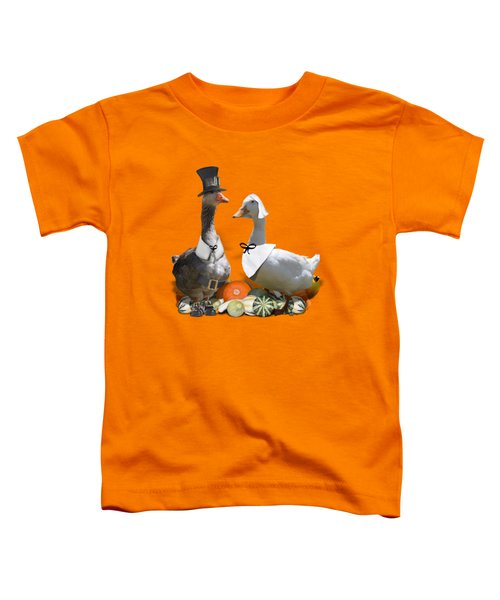Pilgrim Ducks Toddler T-Shirt by Gravityx9 Designs