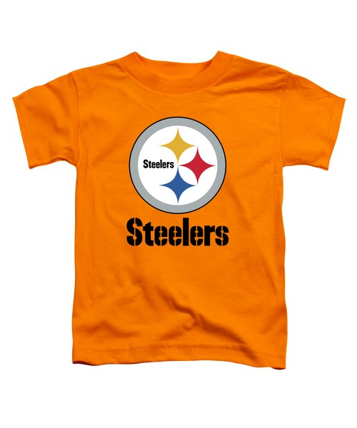 Pittsburgh Steelers On An Abraded Steel Texture Toddler T-Shirt