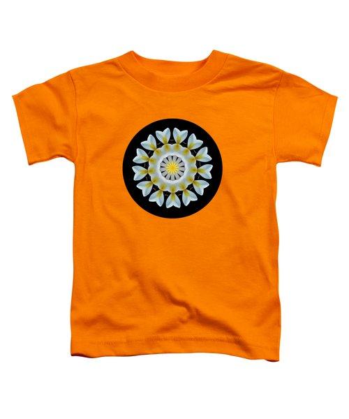 Plumeria Mandala By Kaye Menner Toddler T-Shirt by Kaye Menner
