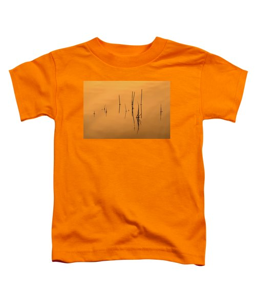 Pond Reeds In Reflected Sunrise Toddler T-Shirt