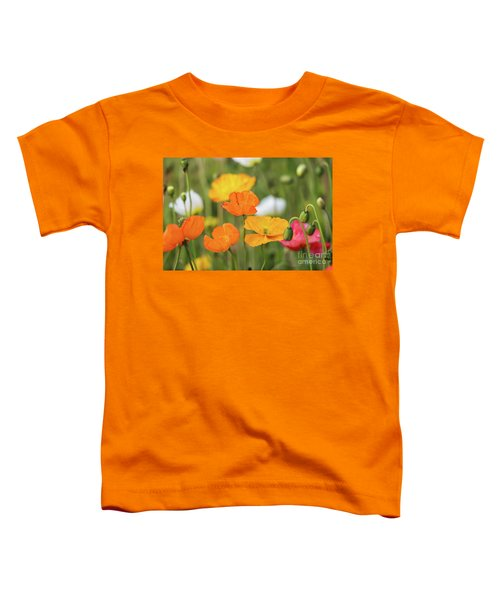 Toddler T-Shirt featuring the photograph  Poppies 1 by Werner Padarin