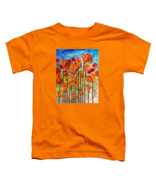 Poppies Make Me Happy Toddler T-Shirt
