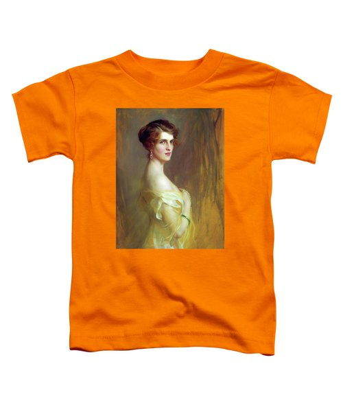 Portrait Of A Lady In Yellow Toddler T-Shirt