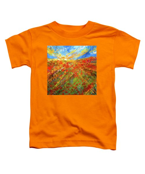 Prairie Sunrise - Poppies Art Toddler T-Shirt