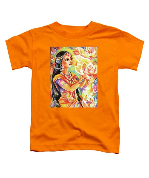 Pray Of The Lotus River Toddler T-Shirt by Eva Campbell