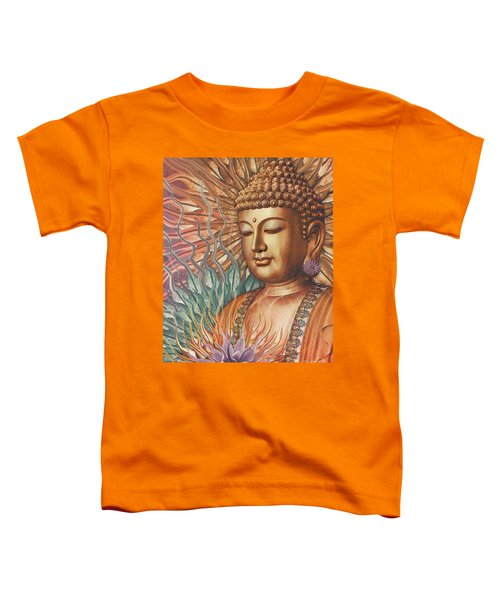 Proliferation Of Peace - Buddha Art By Christopher Beikmann Toddler T-Shirt