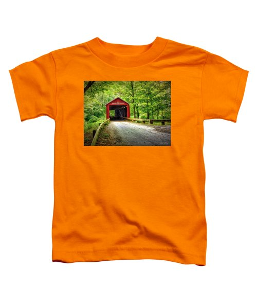 Toddler T-Shirt featuring the photograph Protected Crossing In Summer by Andrea Platt