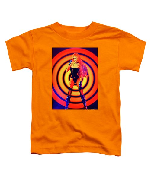 Psychedelic Hypnotic Pin-up Girl Toddler T-Shirt