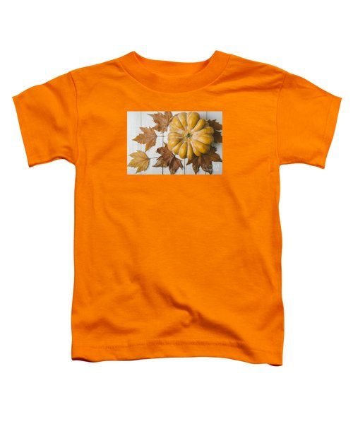 Pumkin And Maple Leaves Toddler T-Shirt