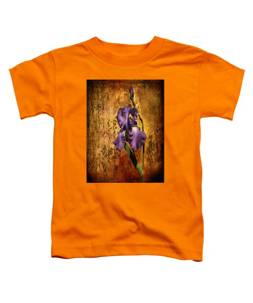 Purple Iris At Sunset Toddler T-Shirt