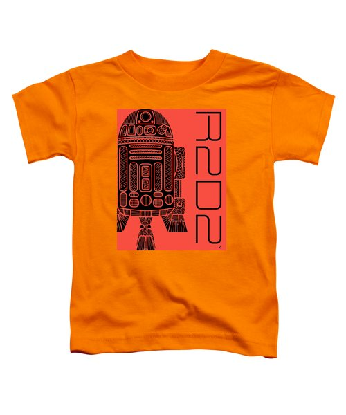 R2d2 - Star Wars Art - Red Toddler T-Shirt