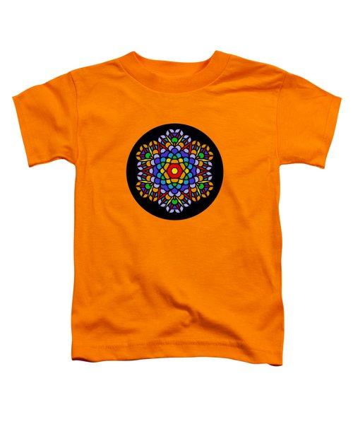 Rainbow Mandala By Kaye Menner Toddler T-Shirt by Kaye Menner