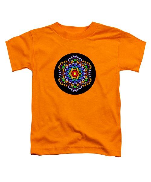 Rainbow Mandala By Kaye Menner Toddler T-Shirt