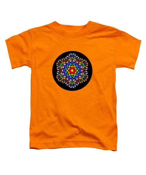 Rainbow Mandala By Kaye Menner Toddler T-Shirt
