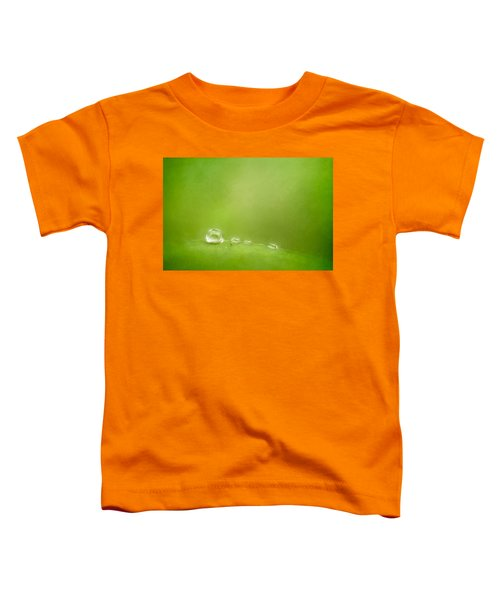 Raindrops On Green Toddler T-Shirt