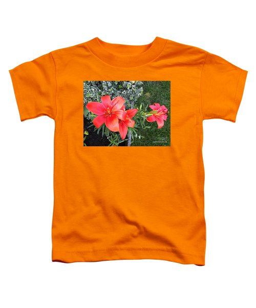 Red Day Lilies Toddler T-Shirt