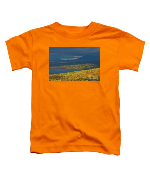 Red Farm House In Evening Light Toddler T-Shirt