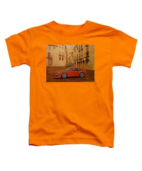 Red Gt3 Porsche Toddler T-Shirt