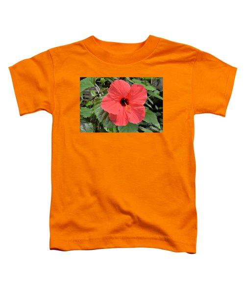 Red Hibiscus Toddler T-Shirt