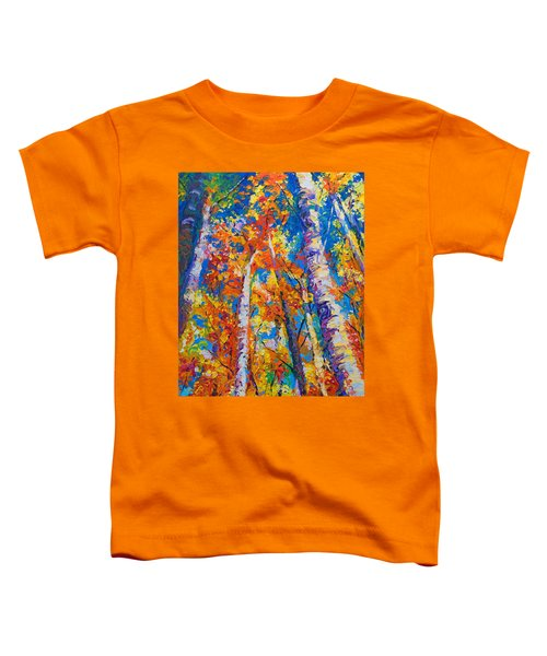 Redemption - Fall Birch And Aspen Toddler T-Shirt by Talya Johnson